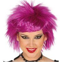 peruka PINK PUNK różowa fuksja włosy KRÓTKIE punka