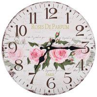 Lumarko Zegar ścienny w stylu vintage, kwiat, 30 cm