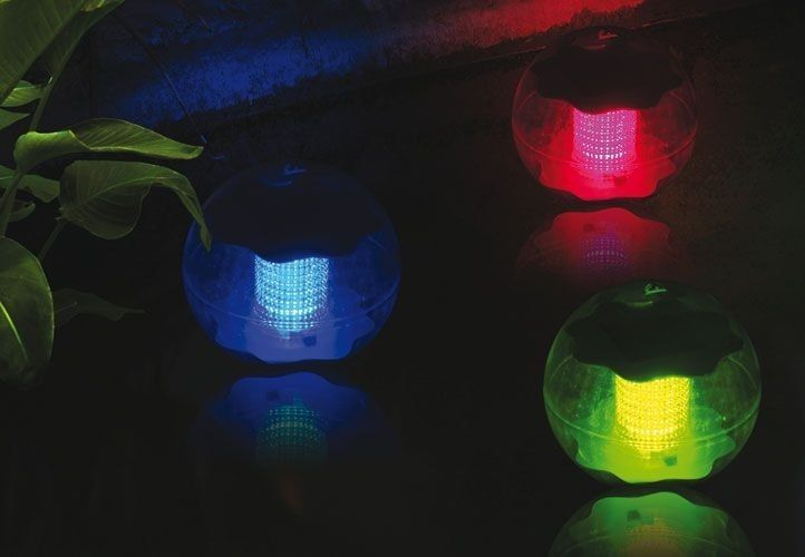 Lampa solarna kolorowa LED, lampion ogrodowy w kształcie kuli zdjęcie 2