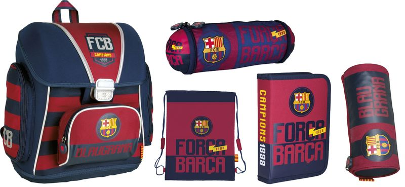 Tornister szkolny FC-76 FC Barcelona w zestawie Z6 zdjęcie 1