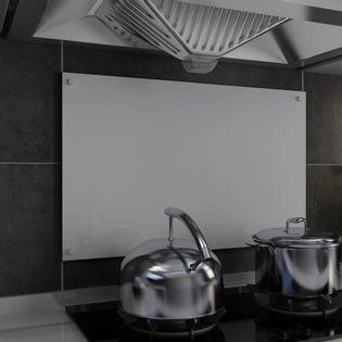 Lumarko Panel ochronny do kuchni, biały, 80x50 cm, szkło hartowane
