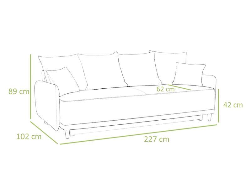 Rozkładana sofa Sui w stylu skandynawskim - od PRODUCENTA zdjęcie 2