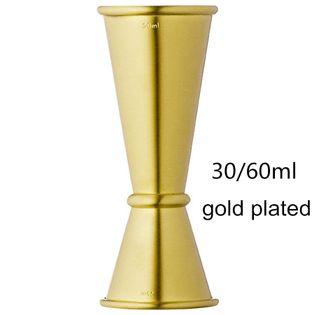 SHAKER Do Drinków i Koktajli -  Stalowy - DRINK BAR 30x60ml Złoty