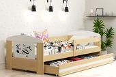 Łóżko pojedyncze FILIP 160x80 dla dzieci + SZUFLADA + BARIERKA zdjęcie 12