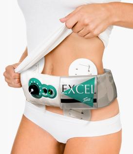 Elektrostymulator pas masażer na brzuch biodra Tua Excel Vupiesse