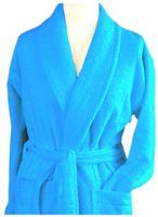Szlafrok płaszcz kąpielowy Cortina M błękit Greno