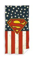 Ręcznik dziecięcy 70x140 Kąpielowy Plażowy Superman Ameryka Flaga Hero