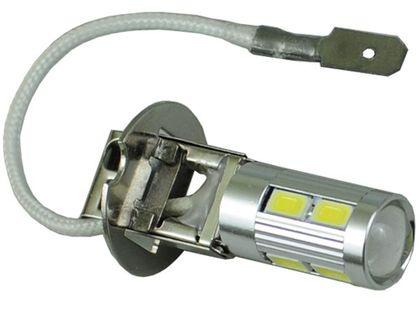 mocna żarówka LED H3 z soczewką 10 x 5730SMD Lightbar 12v motor skuter