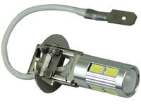 mocna żarówka LED H3 z soczewką 10 x 5730SMD dzienne DRL 12v 24v