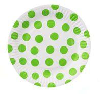 Talerzyki w GROCHY kropki pistacjowe, 18 cm, 6 szt