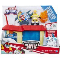 Playskool Transformers Rescue Bots Pożar na Stacji Benzynowej