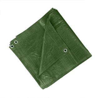 Plandeka 15x20m ochronna, wzmacniana 90g/m2 - Zielona