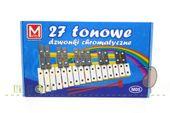 Dzwonki cymbałki chromatyczne 27-tonowe, strojone elektronicznie