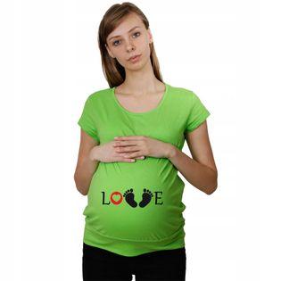 Koszulka ciążowa LOVE dla przyszłych Mam