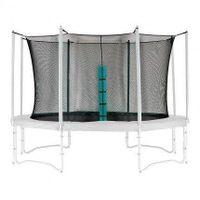 Siatka ochronna do trampoliny wewnętrzna 10ft/312cm 180 cm wysokość na 8 słupków