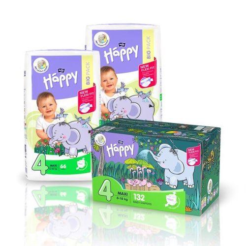Pieluszki dla dzieci Bella Baby Happy New Flexi Fit Maxi BOX 132szt. na Arena.pl