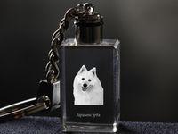 Szpic japoński - kryształowy brelok z wizerunkiem psa
