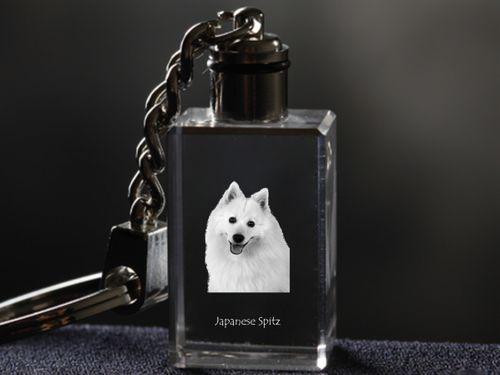 Szpic japoński - kryształowy brelok z wizerunkiem psa na Arena.pl