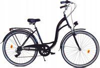 """Rower Dallas City 28"""" 7spd LUX - czarny"""