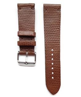 Pasek do zegarka 22mm  brązowy faktura węża - polskie - Lamato