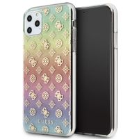 Guess 4G Peony Electroplated Pattern Etui iPhone 11 Pro Max (tęczowy)