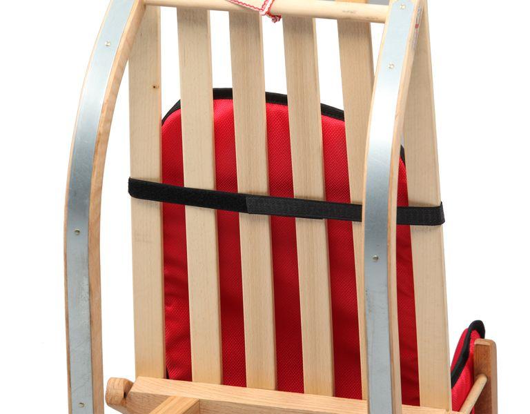SANKI drewniane dla dzieci z materacykiem i popychaczem zdjęcie 7