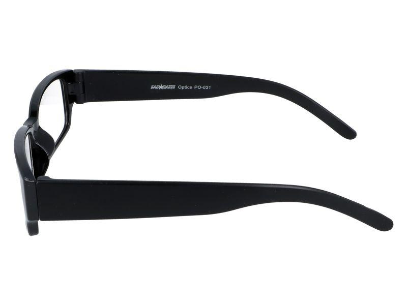 Czarne okulary zastępcze do czytania plusy +1.00 zdjęcie 5