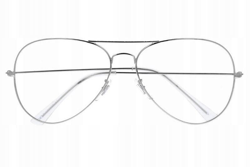 Aviator okulary pilotki oprawki korekcyjne metal zdjęcie 1