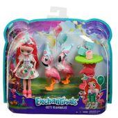 Mattel ENCHANTIMALS Lalka + Zwierzątko, Flamingi