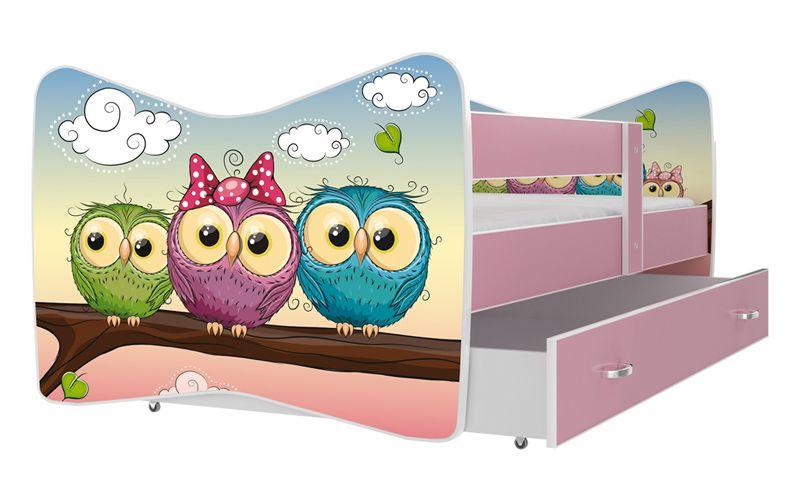 Łóżko TOMI COLOR 140x70 szuflada + materac zdjęcie 3