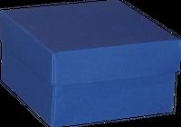 Opakowanie 120x120x70mm - niebieskie, karton ozdobny