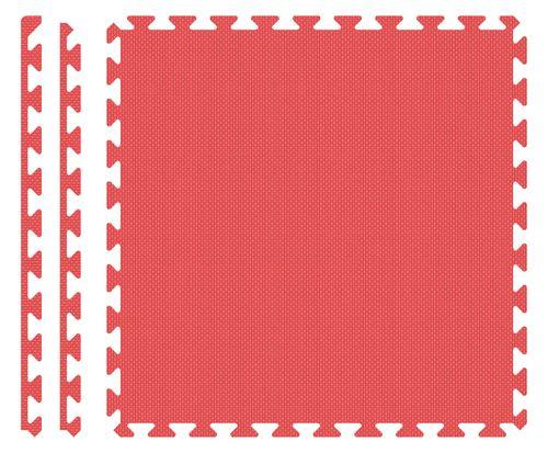 PUZZLE PIANKOWE MATA 4szt 62x62x1,1 cm Czerwony na Arena.pl