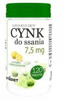 Vitadiet Cynk Do Ssania Cytrynowy 7,5Mg 120 Tab