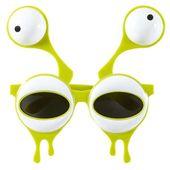 zielone OKULARY party KOSMITY ufoludka UFO alien