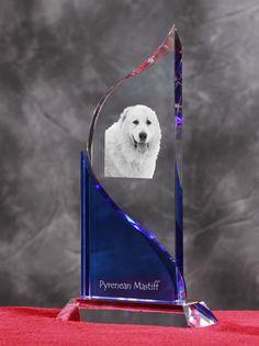 Pyrenean Mastiff- Kryształowa statuetka z podobizną psa.