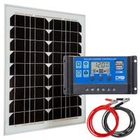 Zestaw solarny 20W Maxx regulator USB