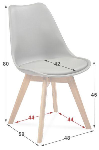 Krzesło FIORD KRIS skandynawskie żółte HIT zdjęcie 2