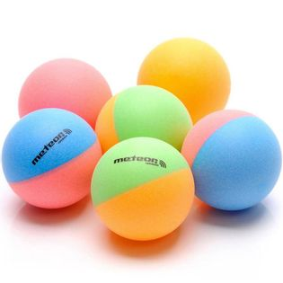 Zestaw 6 piłeczek do ping ponga Meteor Rainbow kolorowe 15027