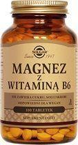 SOLGAR Magnez z witaminą B6, 100tabl.