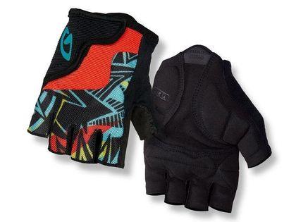 Rękawiczki juniorskie GIRO BRAVO JR krótki palec blast roz. M (obwód dłoni 152-162 mm / dł. dłoni 160-165 mm) (NEW)