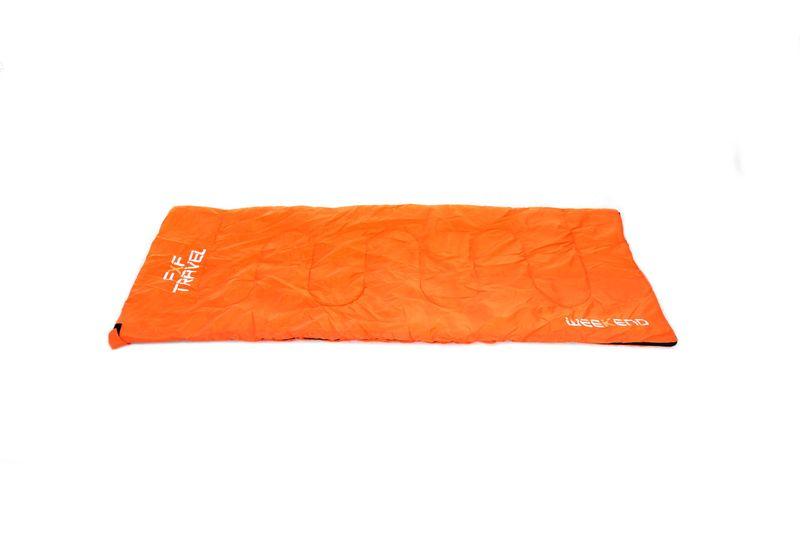 Śpiwór turystyczny Weekend Orange 3-17 C ciepły zdjęcie 4
