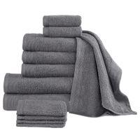 Komplet 12 ręczników, bawełna, 450 g/m², antracytowy
