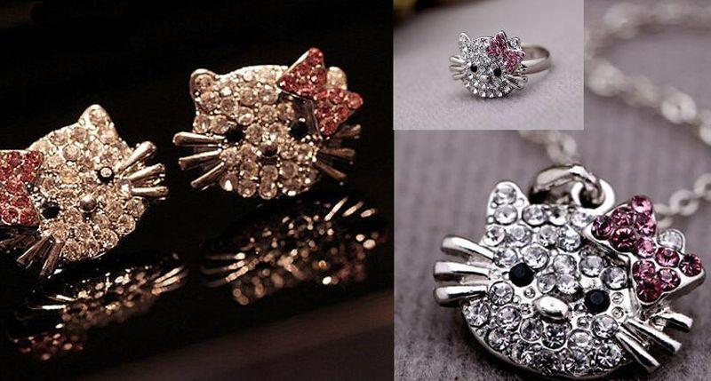 Zestaw biżuterii dziecięcej fanki Hello Kitty na Arena.pl