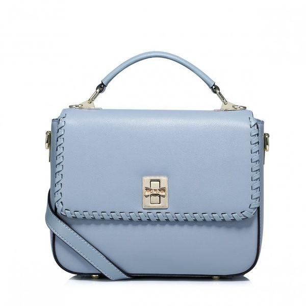 f4141f039027e Nucelle kobieca szykowna torebka ze skóry naturalnej Niebieska zdjęcie 2
