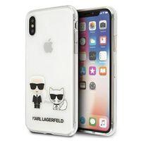 Karl Lagerfeld KLHCPXCKTR iPhone X/Xs hardcase Transparent Karl & Choupette