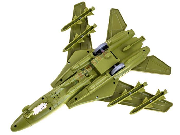 Samolot Wojskowy Myśliwiec + Figurka Flaga Efekty zdjęcie 4
