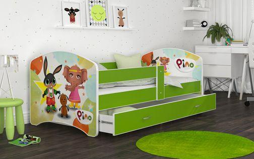 Łóżko 180x90 LUCKY szuflada + materac