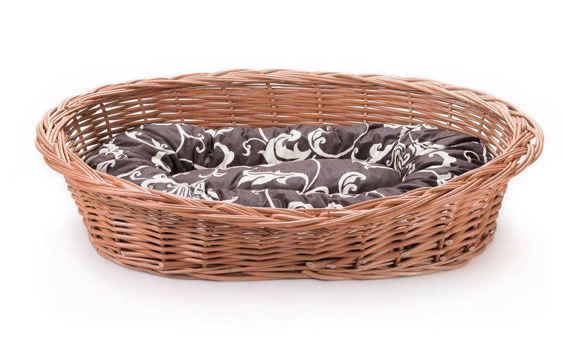 Wiklinowy leżak koszyk dla zwierząt dla kota pieska poduszka VIII k22 zdjęcie 2