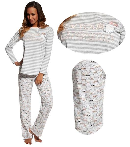ecb351734b1e72 piżama damska CORNETTE 655/100 IN YOUR DREAMS bawełna długa / M zdjęcie 1