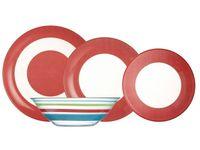 Serwis obiadowy czerwony 19-el SIMPLY RED LUMINARC